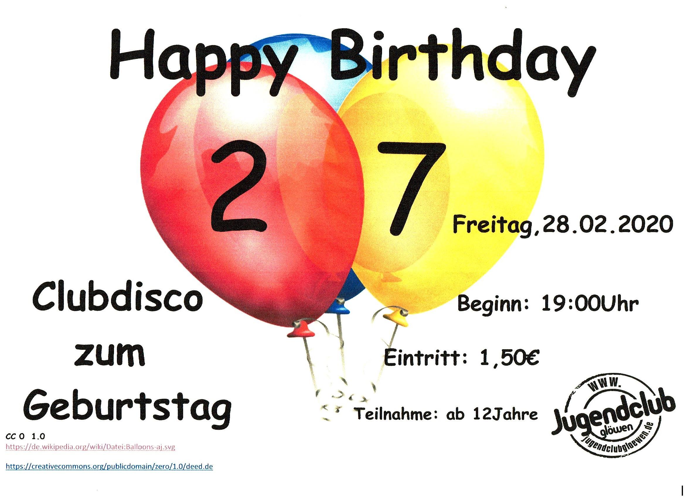 ... Wir haben Geburtstag...