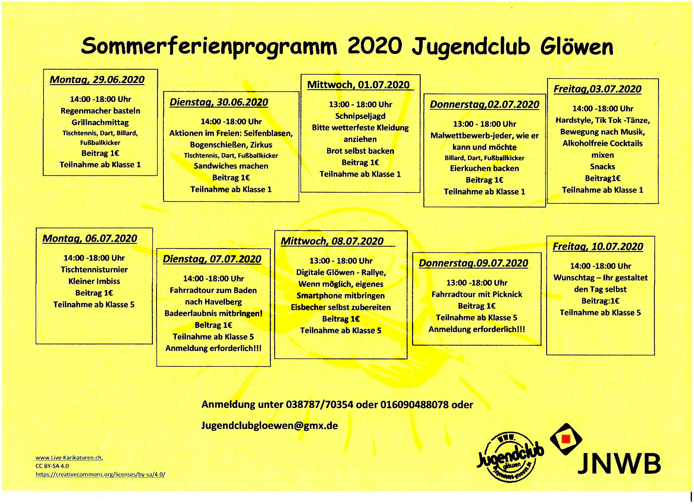 ...Unser Ferienprogramm Sommer 2020...